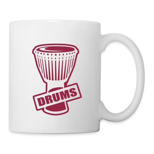 Mug Percu (rouge) - Mug blanc