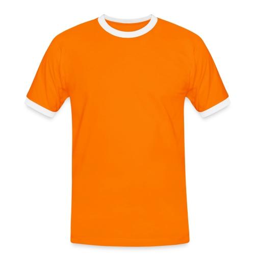 T-skjorte herrer svart/oransj - Kontrast-T-skjorte for menn