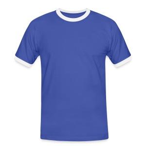 T-skjorte herrer Hvit/lyseblå - Kontrast-T-skjorte for menn