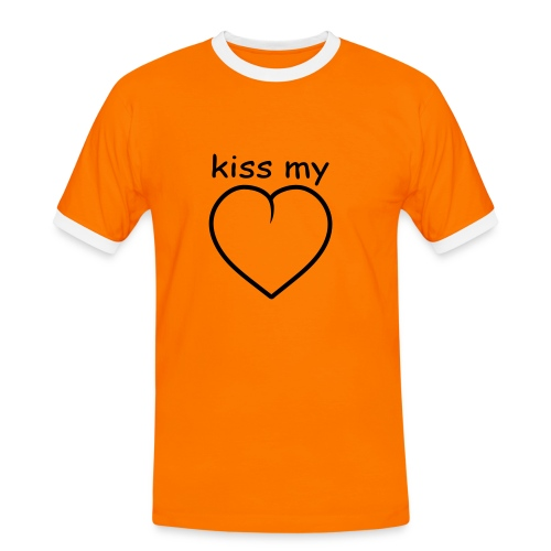 Kiss my - Männer Kontrast-T-Shirt