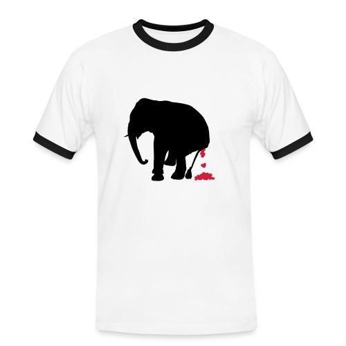 Elefantenherz - Männer Kontrast-T-Shirt