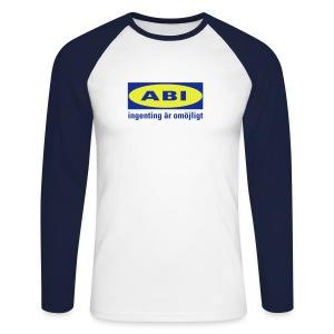 ABI-paita huumorilla! - Miesten pitkähihainen baseballpaita