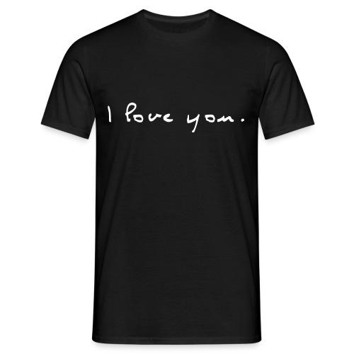 I love you - Noir&Blanc - T-shirt Homme