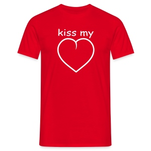 Kiss My Heart - Men's T-Shirt