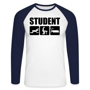 Genser langermet - Langermet baseball-skjorte for menn