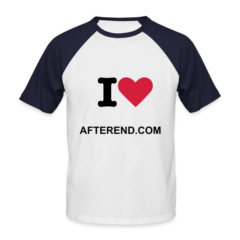 I love AfterEnd - T-shirt baseball manches courtes Homme