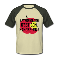 Tee shirts ~ Tee shirt baseball manches courtes Homme ~ AfterEnd Apple