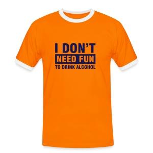 alcohol - Miesten kontrastipaita