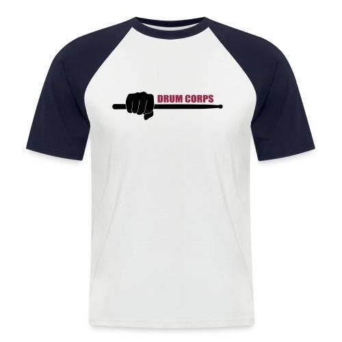 T-Shirt Drumstick (weiß/rot) - Männer Baseball-T-Shirt