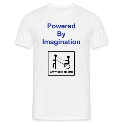 Powered By Imagination - Männer T-Shirt