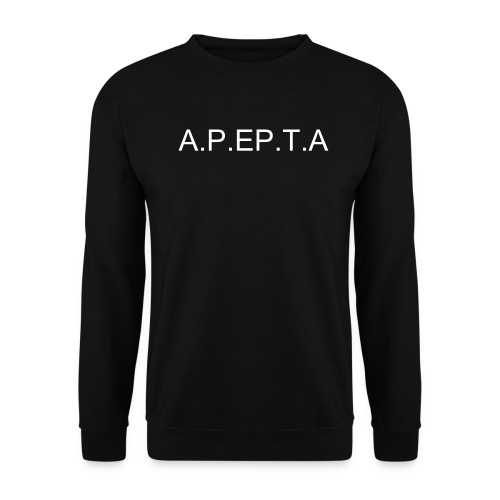 Men's Sweatshirt - Black Sweatshirt printed front and Back.