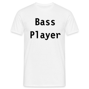 Bass Player (white) - Men's T-Shirt