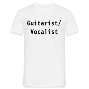 Guitarist/Vocalist (white) - Men's T-Shirt