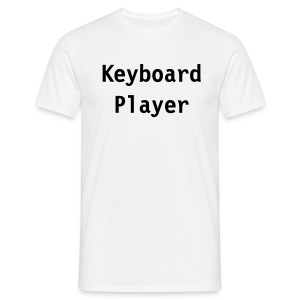 Keyboard Player (white) - Men's T-Shirt