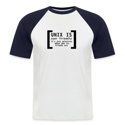 Unix is ... - Männer Baseball-T-Shirt