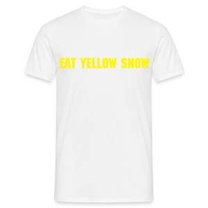EAT YELLOW SNOW, (surf,skate,snow,) - T-skjorte for menn