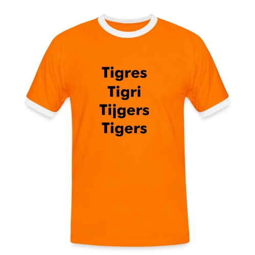 Tigers In Any Language T-Shirt - Men's Ringer Shirt