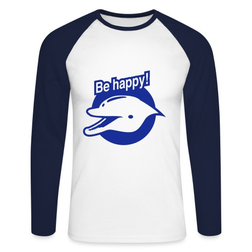 Be Happy! - Mannen baseballshirt lange mouw