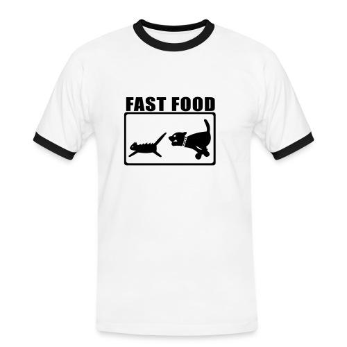 Fast Food / Fun - Männer Kontrast-T-Shirt