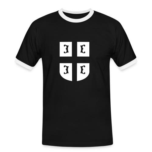 Majica sa grbom - Männer Kontrast-T-Shirt