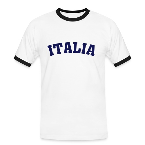 Maglietta Italia - Maglietta Contrast da uomo