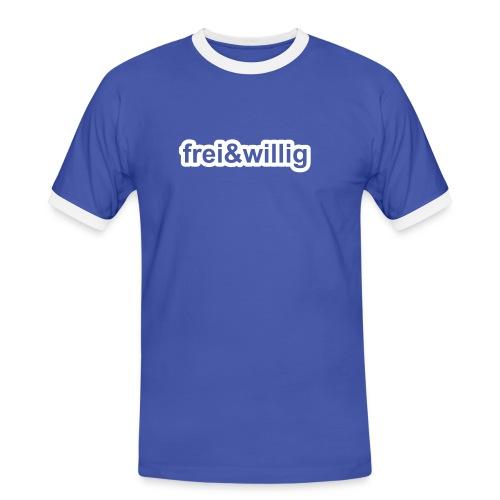 »frei&willig«« - das Erste - Männer Kontrast-T-Shirt