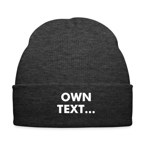 Winter Cab - Own Text - Winter Hat