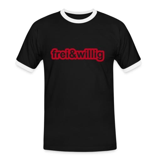 frei&willig (s) - Männer Kontrast-T-Shirt