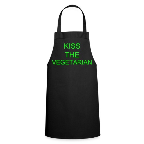 Kiss the Vegetarian Apron - Cooking Apron