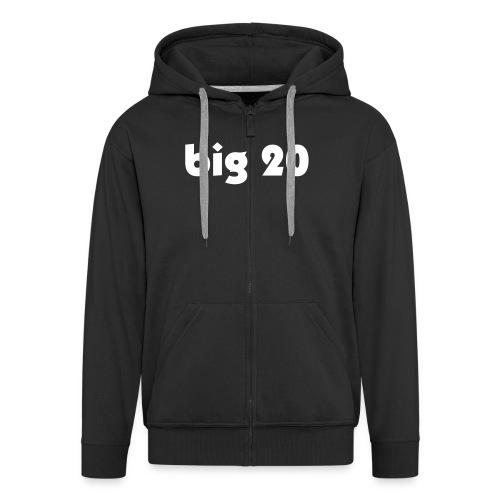 big 20 black hoodie - Men's Premium Hooded Jacket