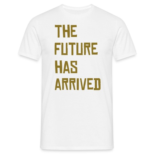 the future t-shirt white - Men's T-Shirt
