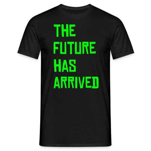 the future t-shirt blk/neon - Men's T-Shirt