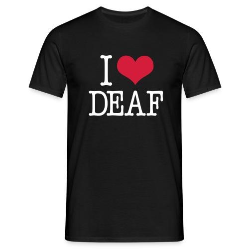 I (Herz) DEAF - Männer T-Shirt