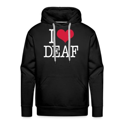 I (Herz) DEAF - Männer Premium Hoodie