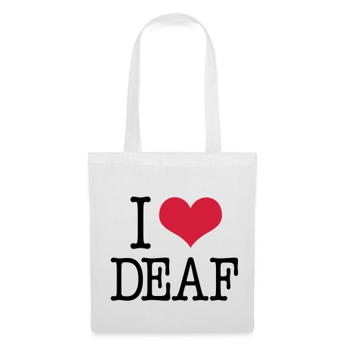 I (Herz) DEAF - Stoffbeutel
