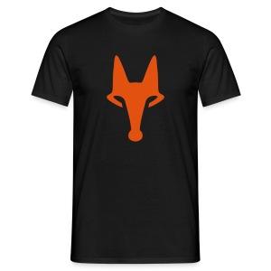 Fox on Black - T-Shirt - Männer T-Shirt