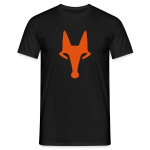 Fox on Black - T-Shirt - Männer T-Shirt