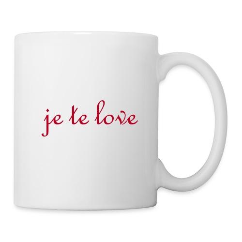 Je te Love - Mug blanc