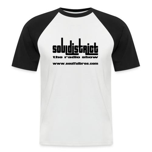 T-Shirt Soul District spécial blanc/noir - T-shirt baseball manches courtes Homme