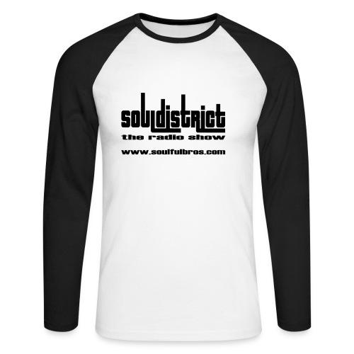 T-Shirt Longues manches Soul District spécial blanc/noir - T-shirt baseball manches longues Homme