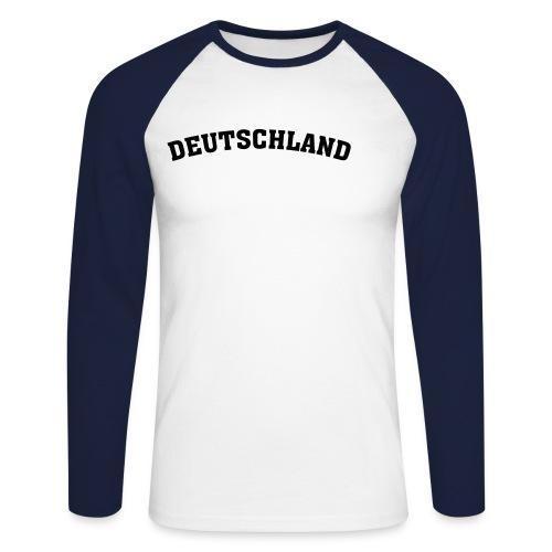 Longsleeve Deutschland - Männer Baseballshirt langarm