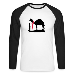 Winter camel - Mannen baseballshirt lange mouw