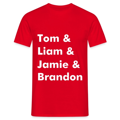 Band Name T-Shirt (Red) - Men's T-Shirt