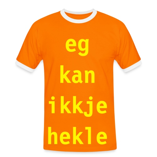 Hekle - Kontrast-T-skjorte for menn