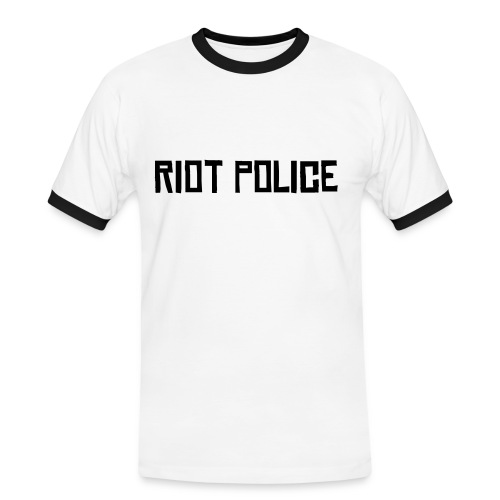Riot Police Man - Men's Ringer Shirt