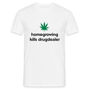 homgrowing logo - T-skjorte for menn