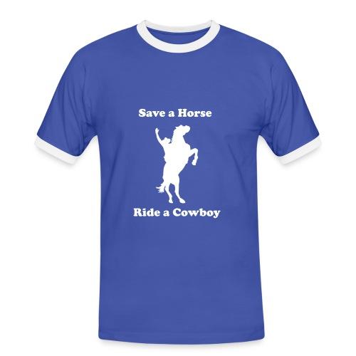 Save a horse - Mannen contrastshirt