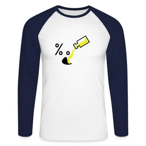 Genser-Alkohol - Langermet baseball-skjorte for menn