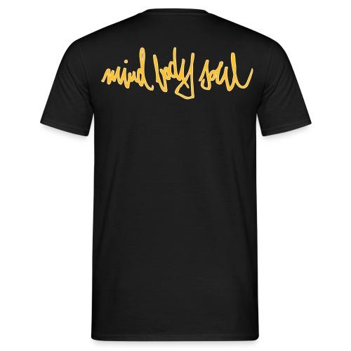 MindBodySoul Tag Backprint 2farbig - Männer T-Shirt
