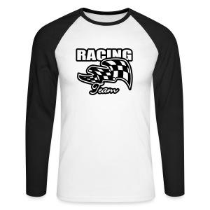 Racing Team - Langermet baseball-skjorte for menn